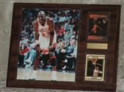 MICHAEL JORDAN CARDS and PICTURE PRESENTATION PLAQUE